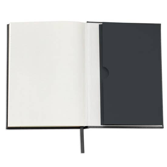 Note To Self Black Linen Journal