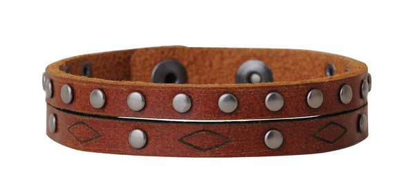 Tan Arrow Leather Bracelet