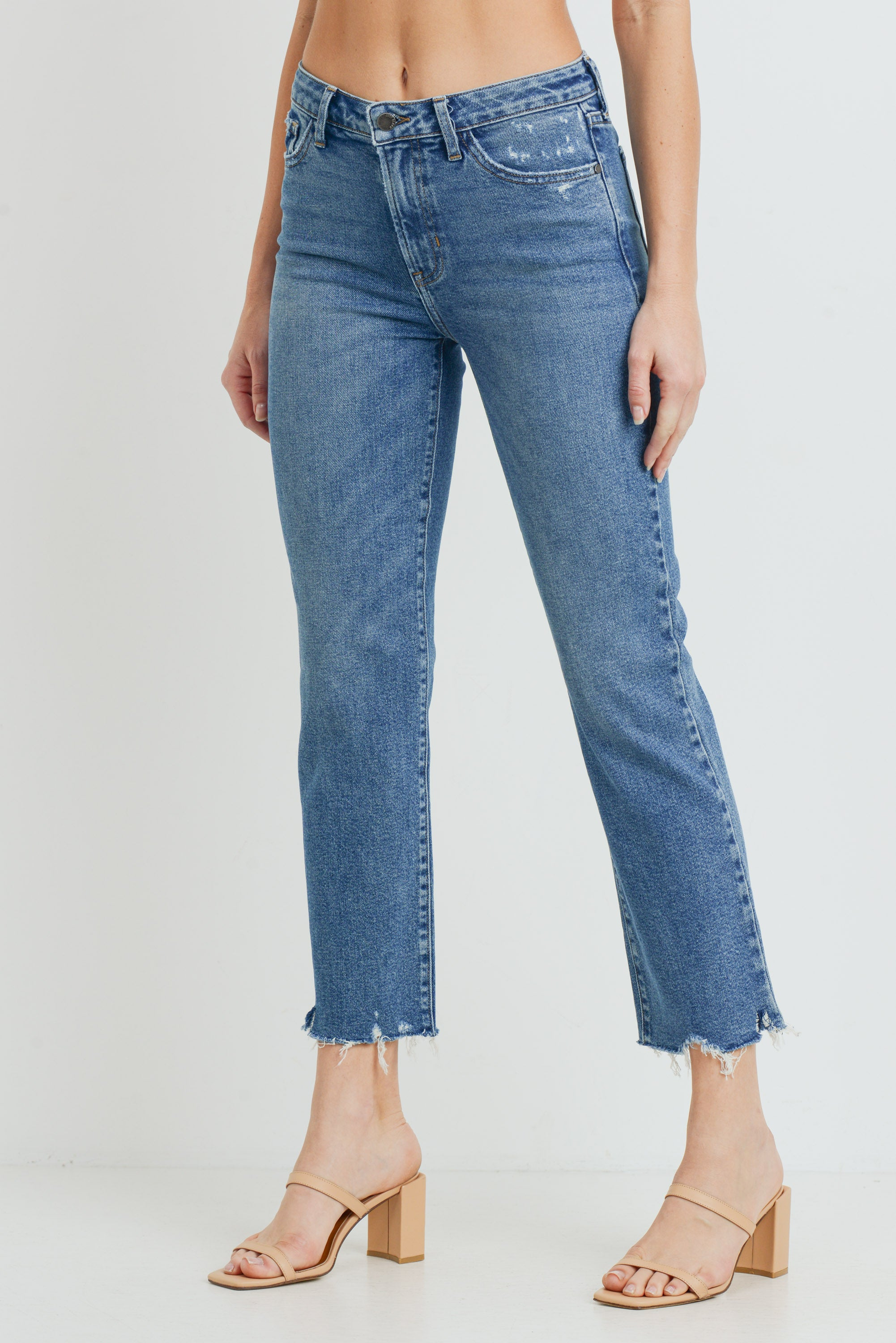 High Rise Vintage Straight Jeans