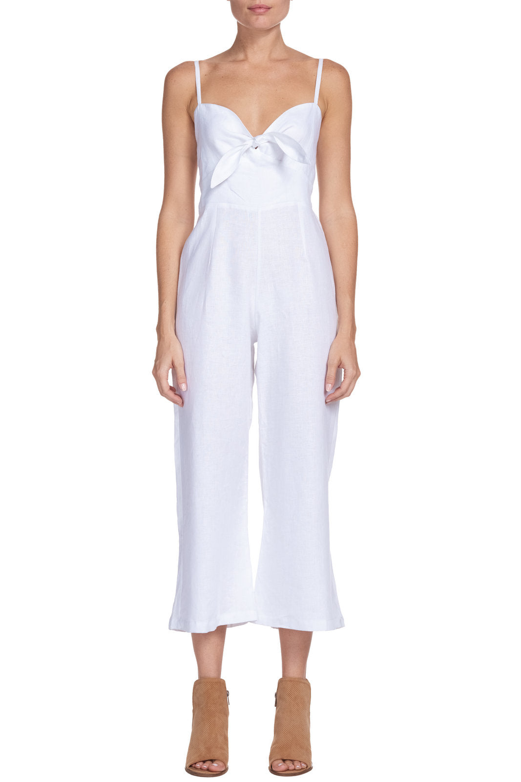 Spaghetti Strap Jumpsuit with Tie Top