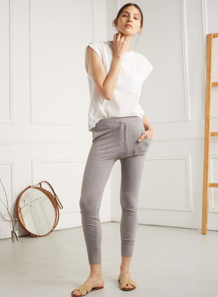 """Nikki"" Sweat Pant in Grey Melange"