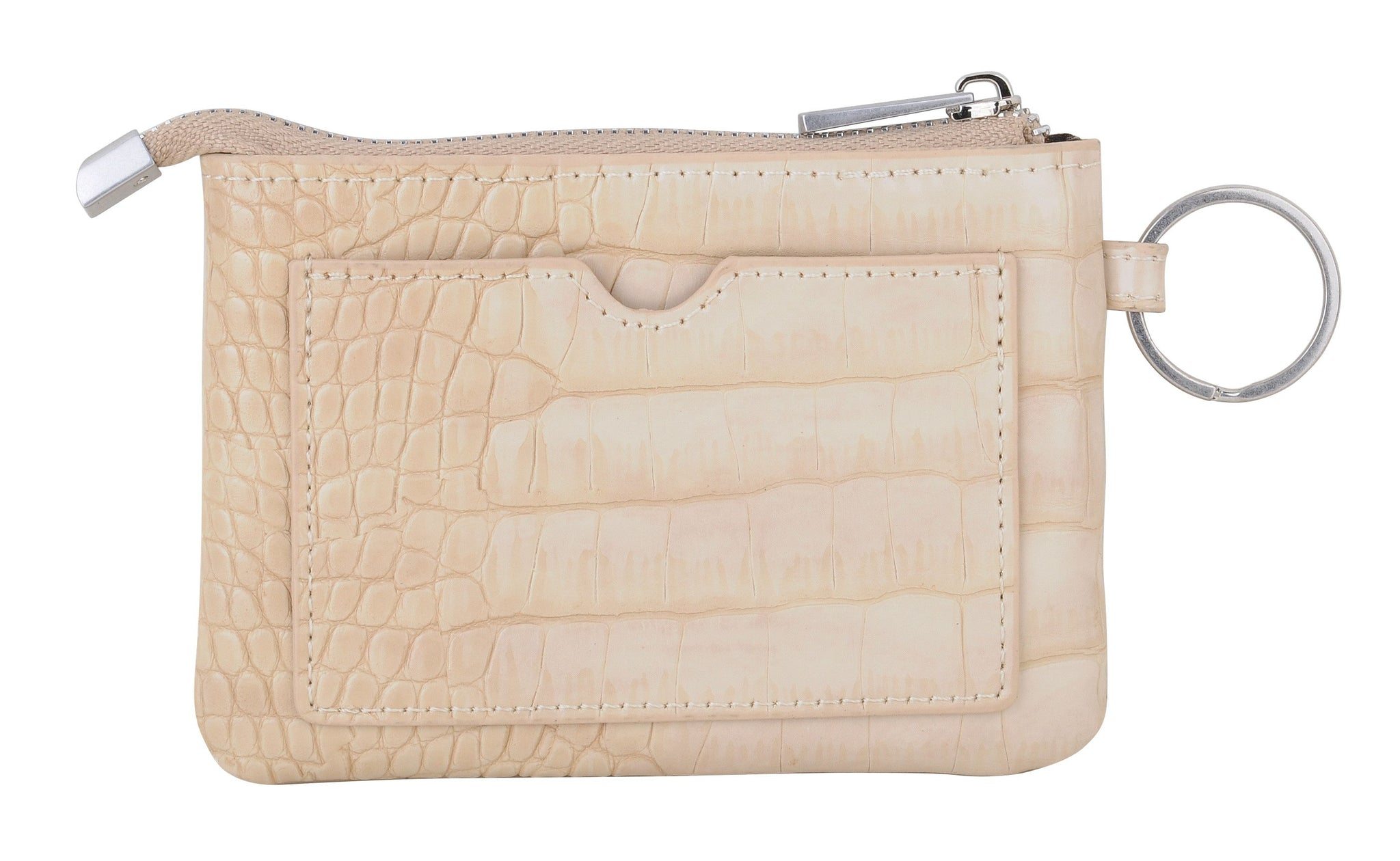 Classic Card Pouch in Croc Pattern