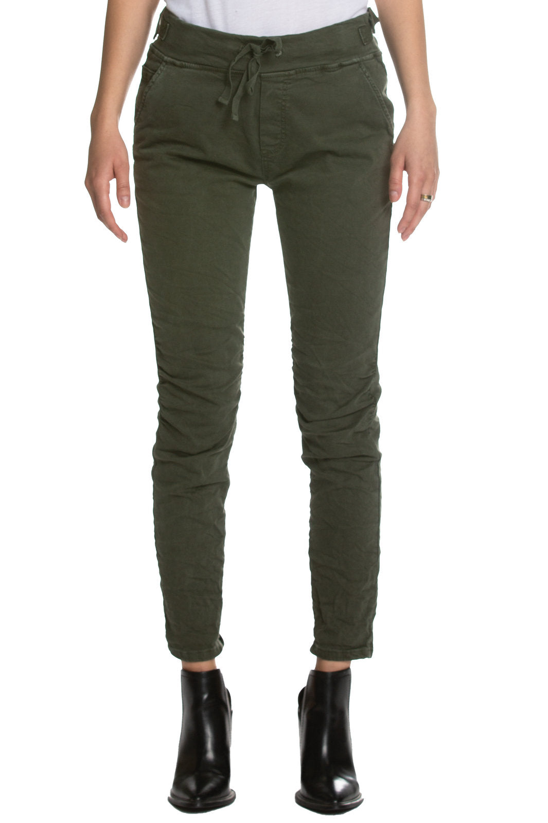 Casual Elastic Pull On Skinny Pants