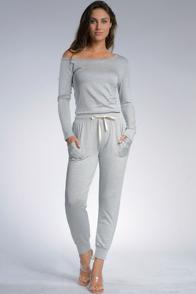 Light Grey Jersey Jumpsuit