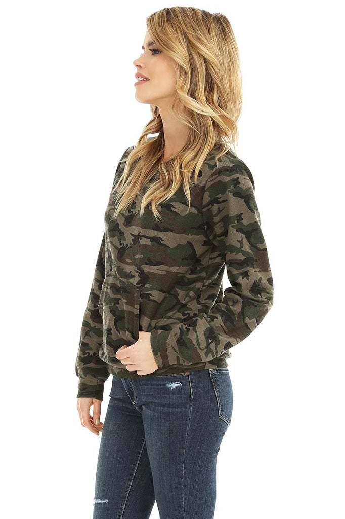 Camouflage Print Pullover