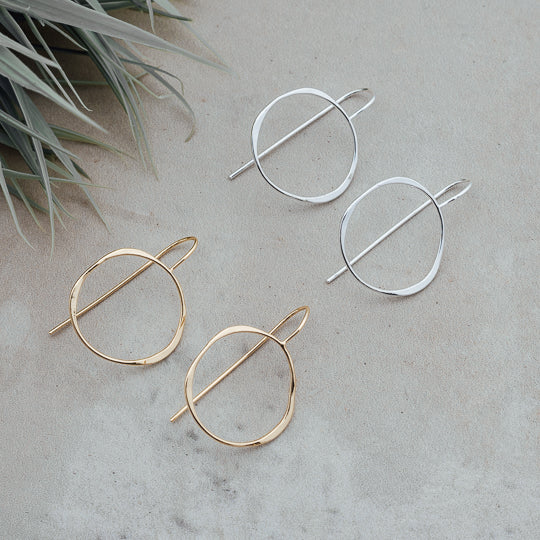 Varina Circle Drop Earrings