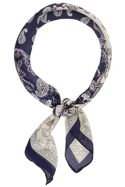 Two Tone Vintage Paisley Neckerchief