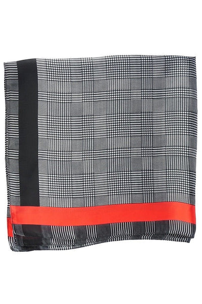 Houndstooth Pattern Print Neckerchief