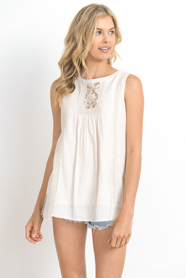 Sleeveless Crocheted Top