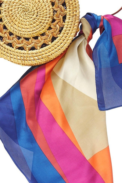 Multicolored Geometric Pattern Neckerchief