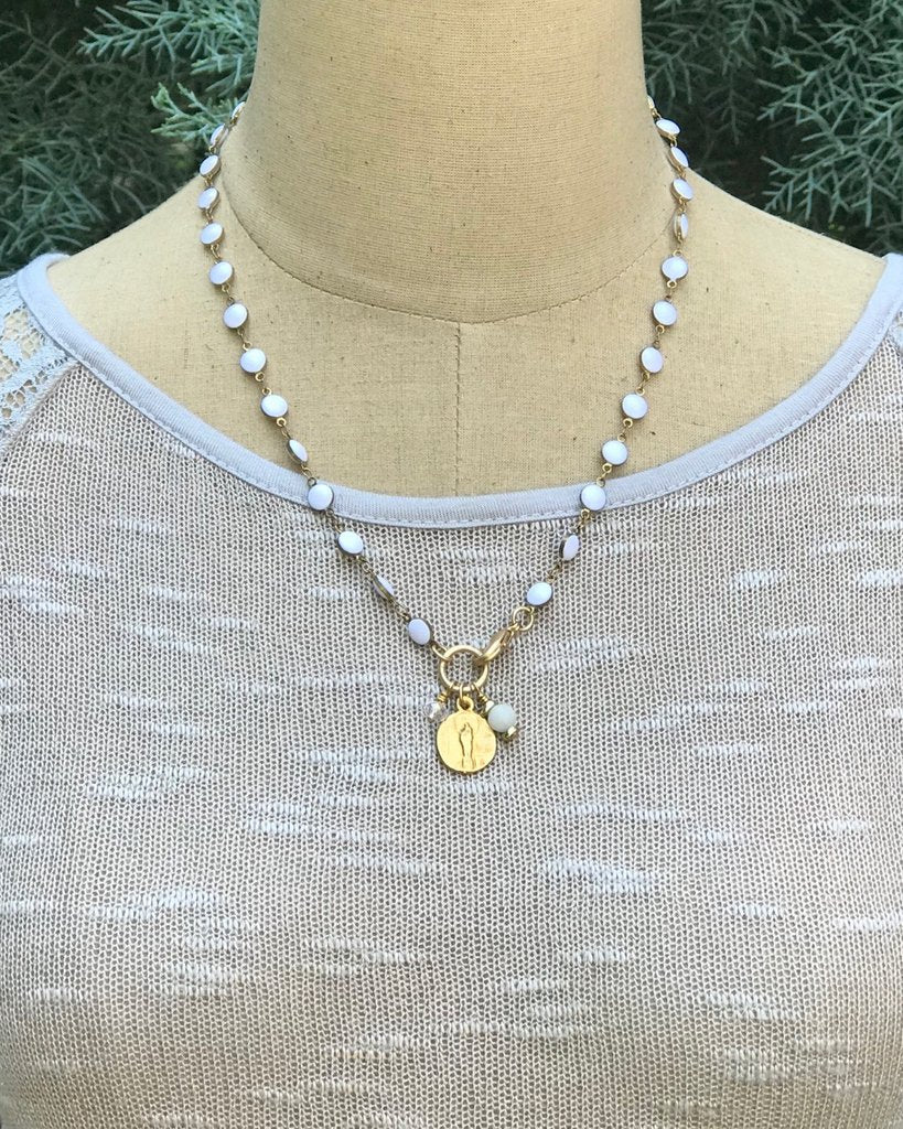 White and Gold Chain Convertible Necklace