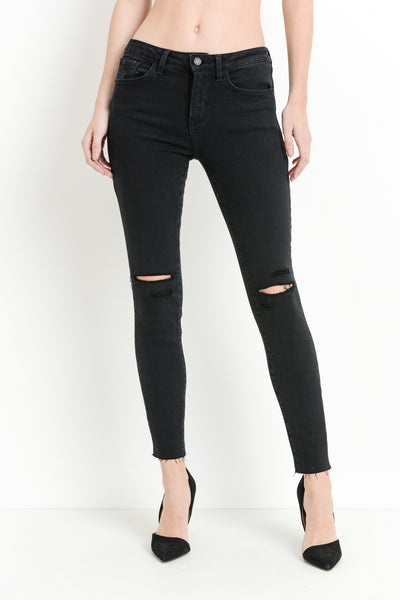 Black Skinny Jeans with Multi Slits