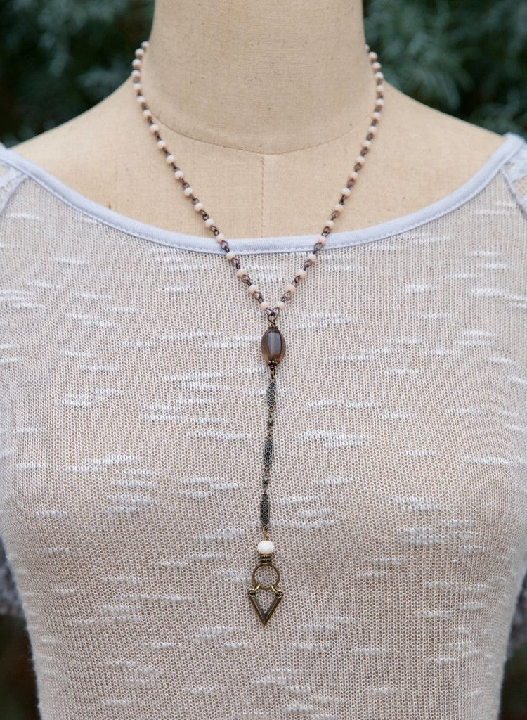 Mid-Length Necklace with Arrow Charm