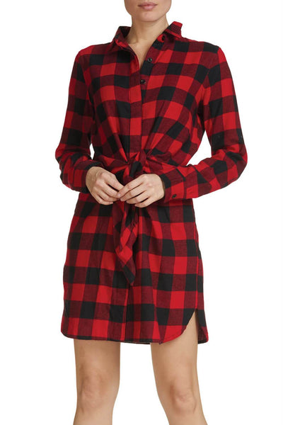 Black and Red Buffalo Plaid Dress