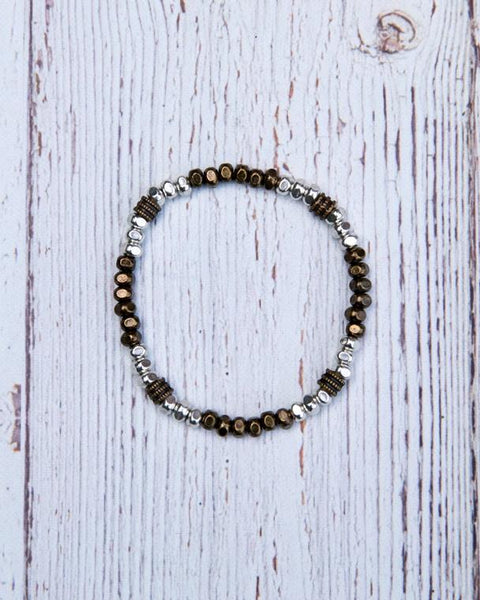 Mixed Metal Stretch Bracelet