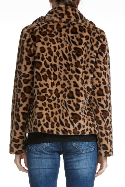 Brown Leopard Short Jacket
