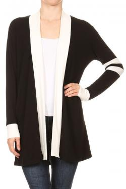 French Terry Varsity Style Cardigan