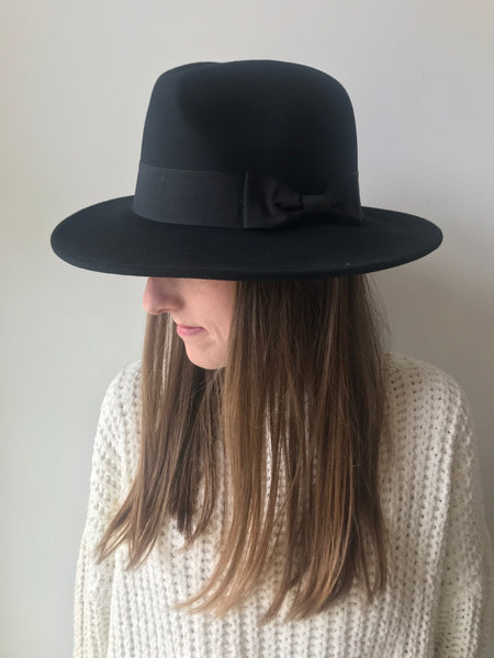 Wool Wide Brim Fedora Hat
