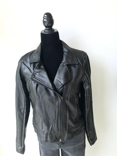 Black Cropped Moto Jacket