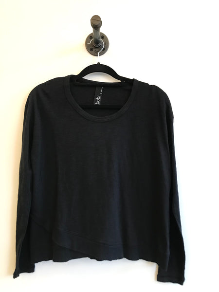 Long Sleeve Ribbed Hem Top