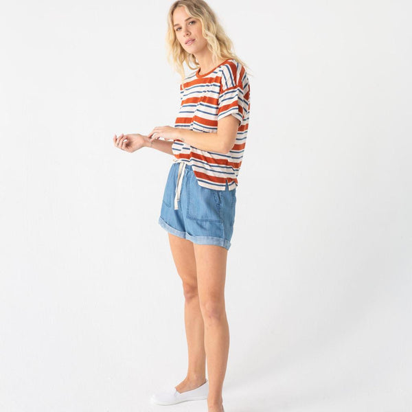 Kingston Denim Shorts with Drawstring Waist