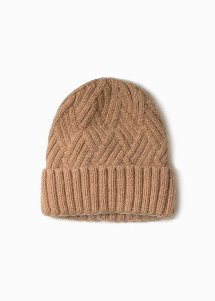 Camel Chevy Woven Beanie