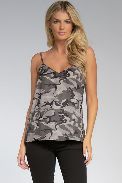 Olive Green Camouflage Cami