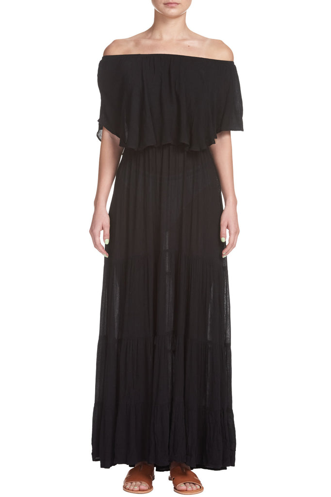 Maxi Dress with Tiered Ruffle