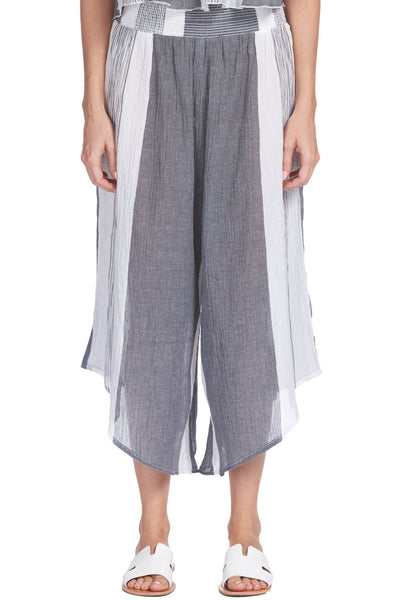 Charcoal Grey and White Stripe Pants