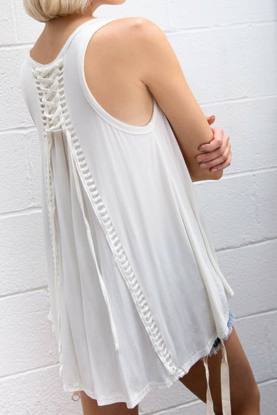 Ivory Babydoll Sleeveless Top