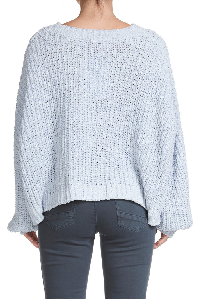 Knitted Pullover Sweater with Round Neck