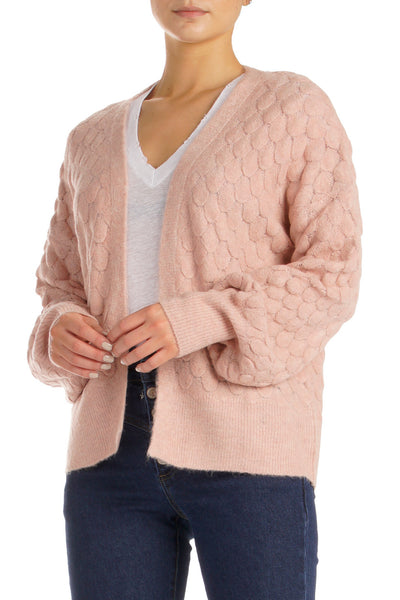 Blush Pink Cardigan Sweater