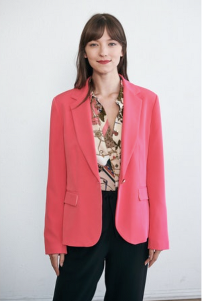 Bright Pink Fitted Blazer