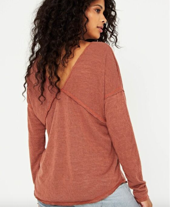 In the Moment Long Sleeve V-Neck Tee