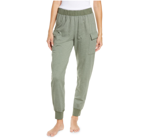 Patch Pocket Jogger Pants in Sage Brush
