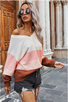 Multicolored Pink Stripe Oversized Sweater