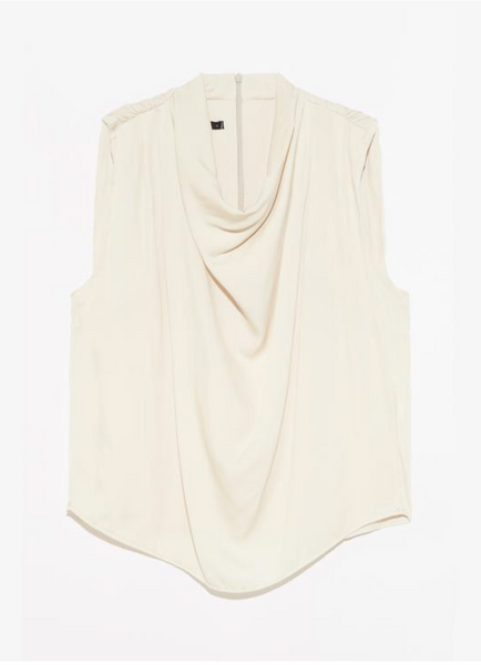"Champagne ""Candence"" Sleeveless Top"