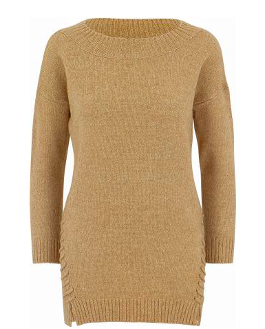 Camel Side Stitched Sweater