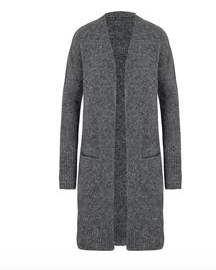 Long Charcoal Grey Cardigan