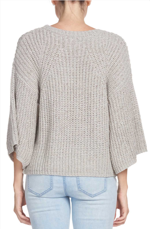 Sweater with Bell Sleeves