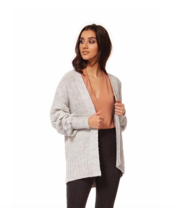 Grey Fly Away Cardigan Sweater