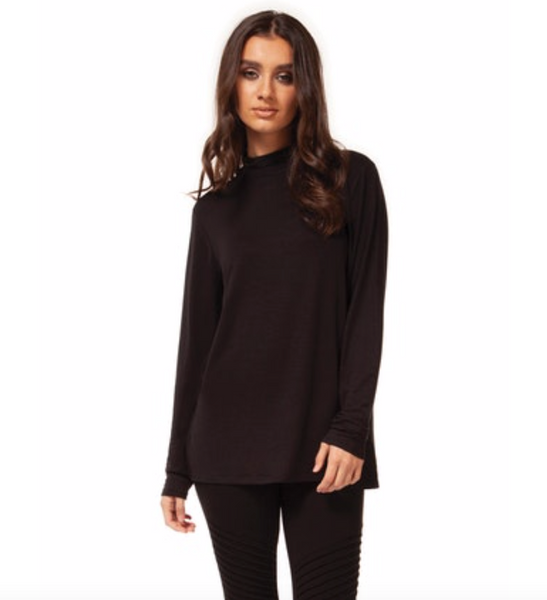 Long Sleeve Knit Turtleneck Top