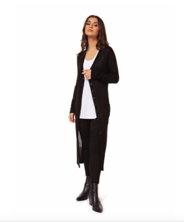 Black Duster Cardigan