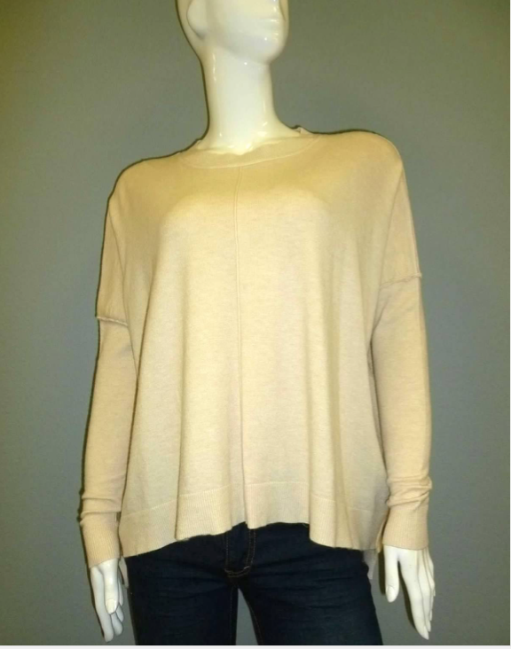 Crew Neck Dolman Sleeve Sweater
