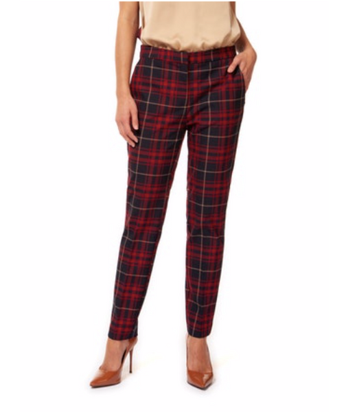Red and Blue Plaid Pants