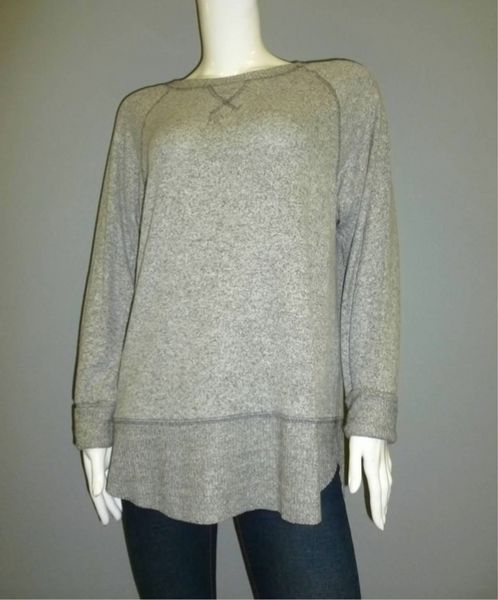 Light Grey Brushed Jersey Sweater