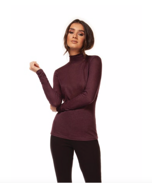 Burgundy Mock Turtleneck