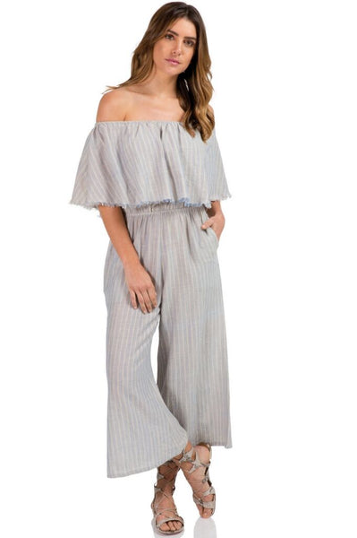 Off the Shoulder Culotte Romper