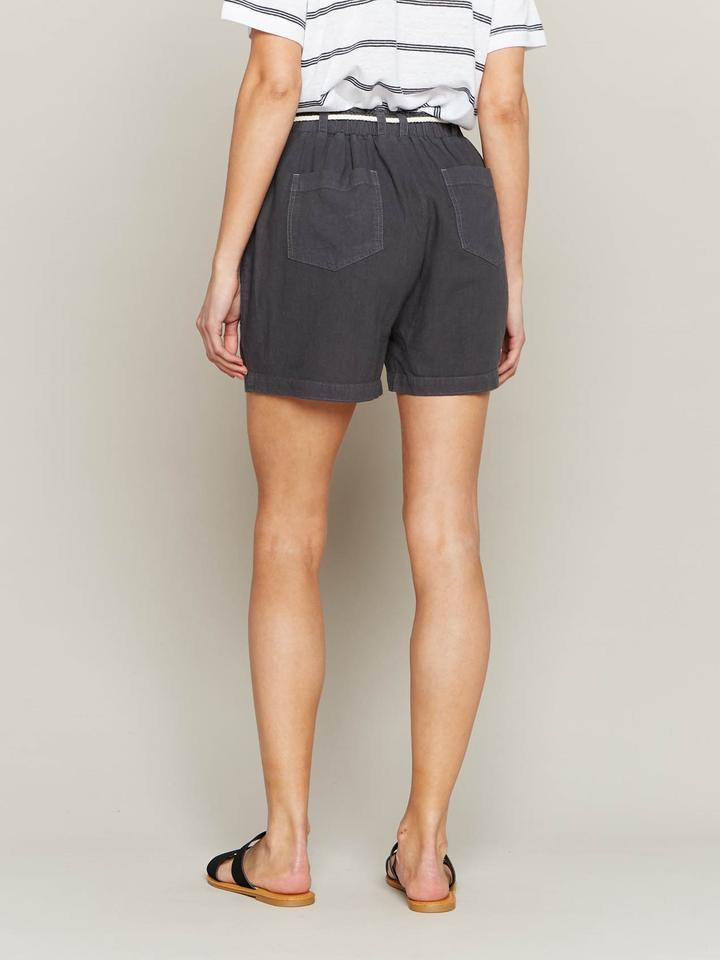Set Sail Shorts in Charcoal Grey with Cord Belt