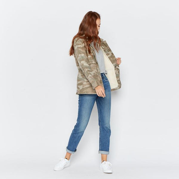 Camo Sherpa Lined Jacket